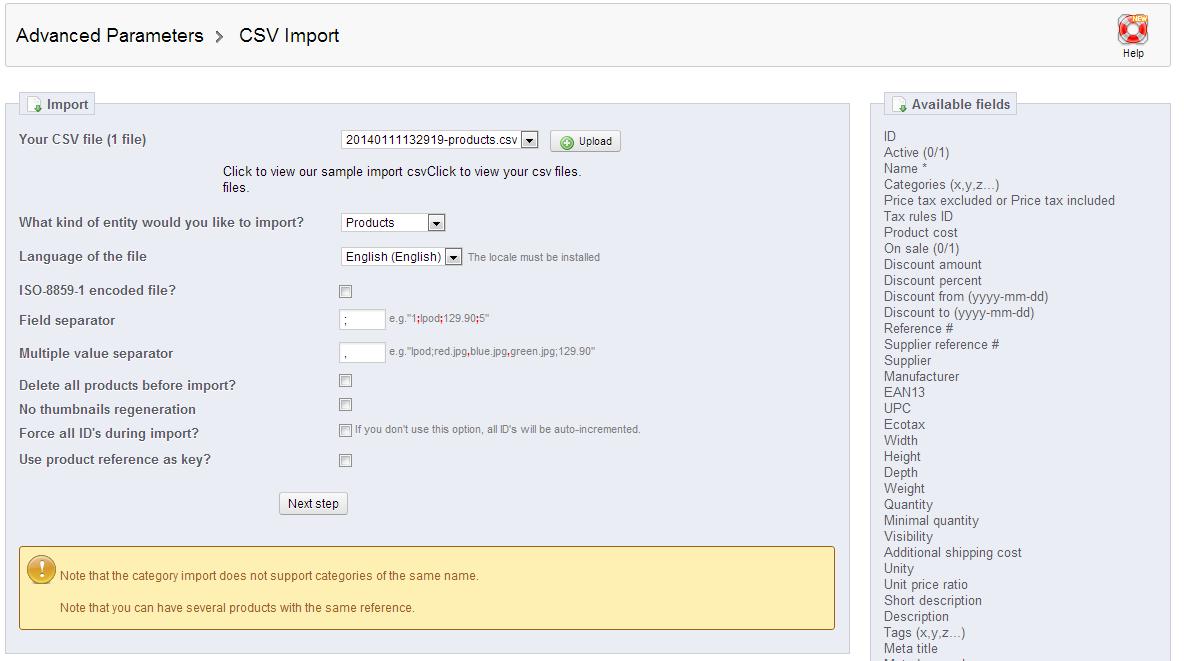 configuring-import
