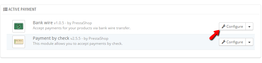 Accessing the Payment page