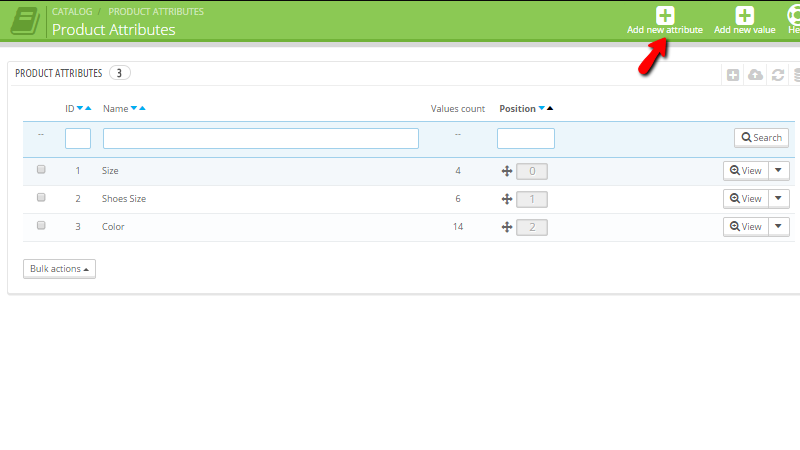 Adding a new product attribute