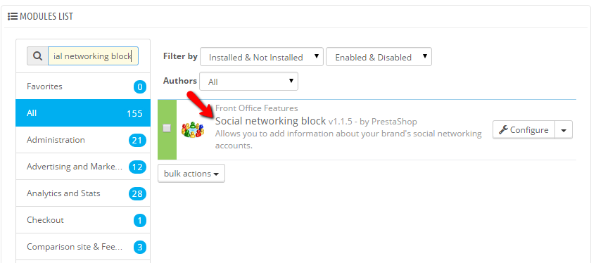 accessing the social networking blog module