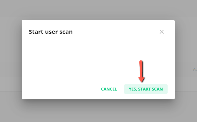 Start User Scan With Imunify360