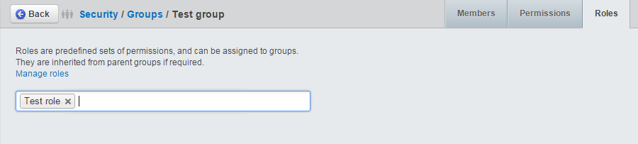 Assign roles to groups in SilverStripe
