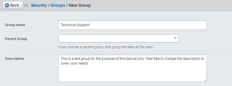 Edit group details in SilverStripe