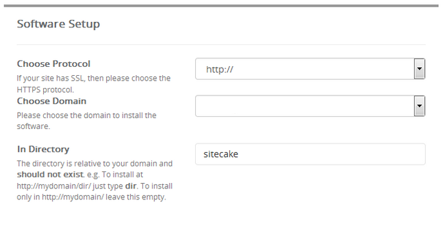 Configuring the Software Settings for Sitecake