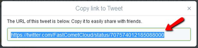 Copying the URL of a Tweet