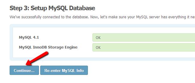 SocialEngine MySQL check