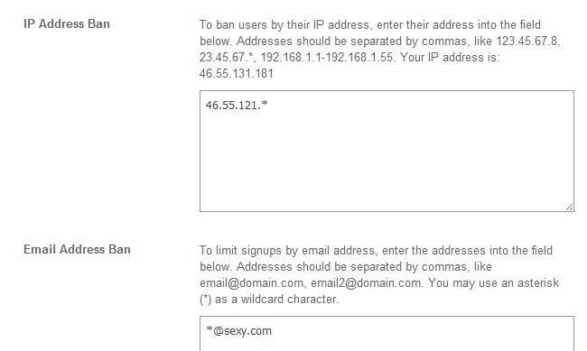 Ban an IP address in SocialEngine