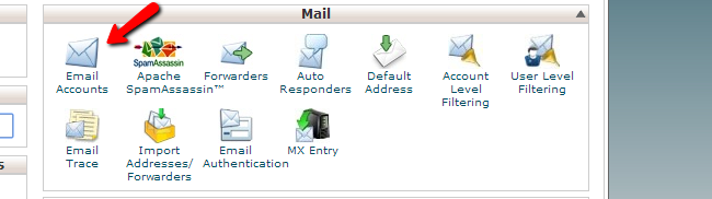 Review email accounts in cPanel