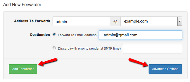 Adding a new Forwarder for your emails