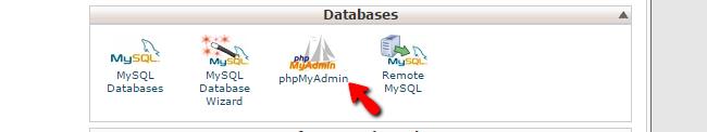 accessing phpMyAdmin