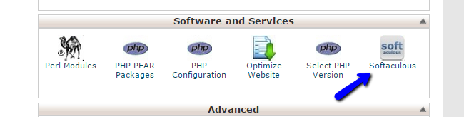 Access Softaculous via cPanel