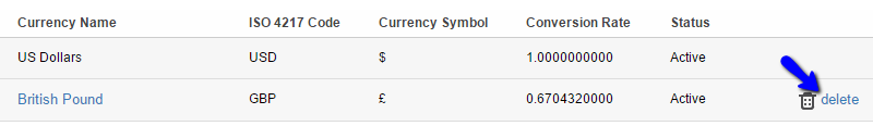 Remove Existing Currency in SuiteCRM