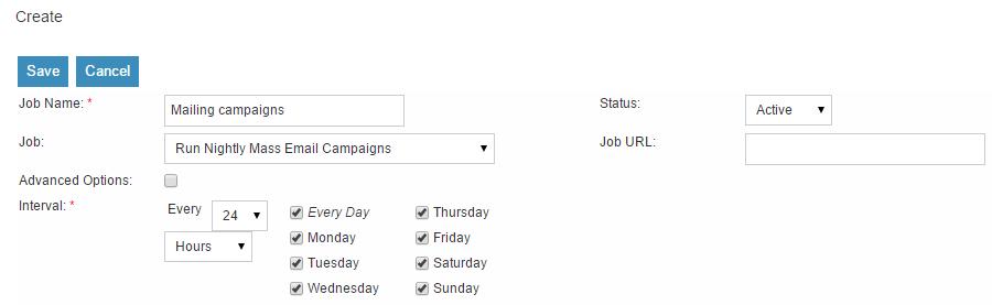 Edit Scheduled Job in SuiteCRM