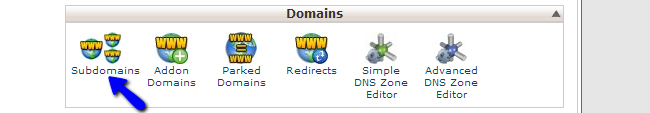 Access subdomains in cPanel