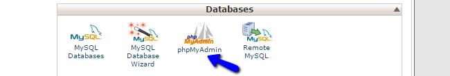 Access phpMyAdmin in cPanel