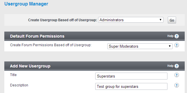 Edit usergroup details in vBulletin