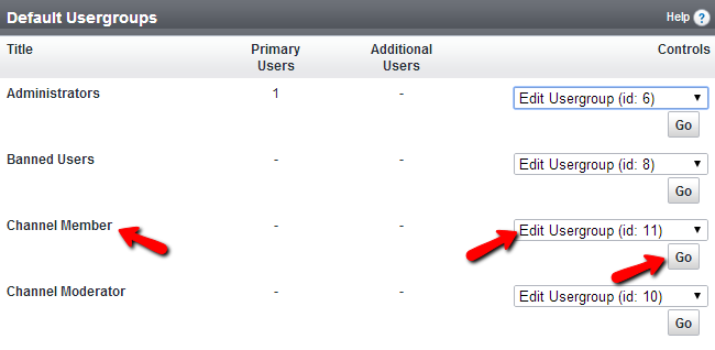 Edit existing usergroup in vBulletin
