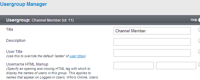 Set new details for existing usergroup in vBulletin
