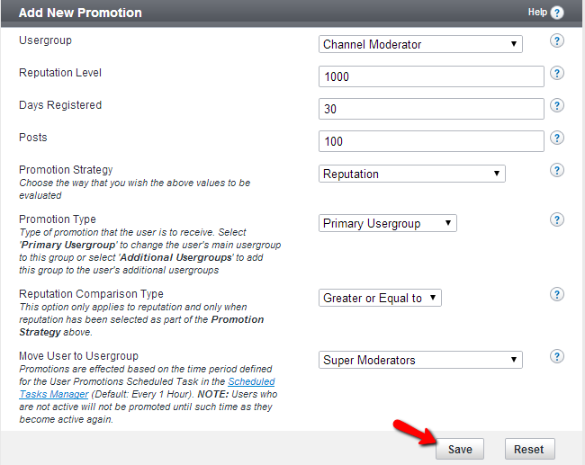 Edit usergroup promotion details in vBulletin