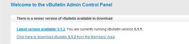 vBulletup upgrade available