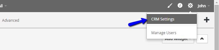 vTiger CRM settings