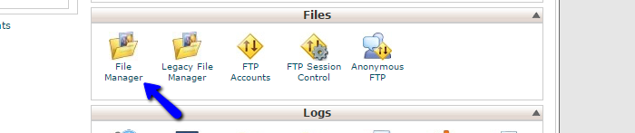 Access file manager in cPanel