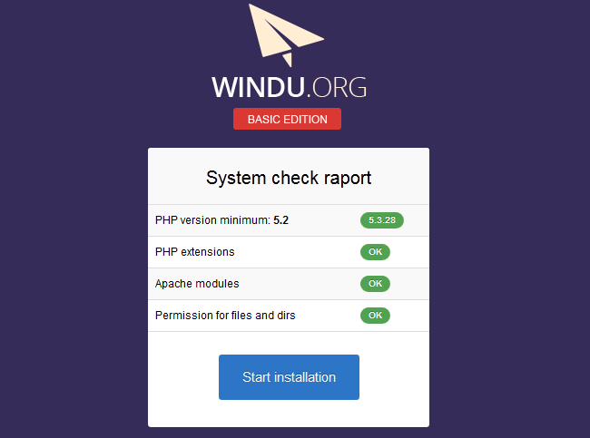 windu system check report