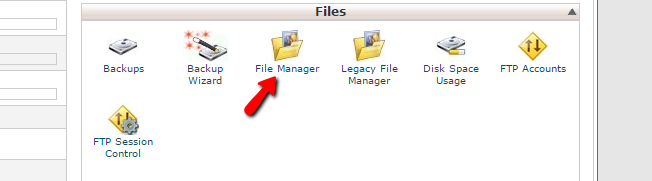 accessing File Manager
