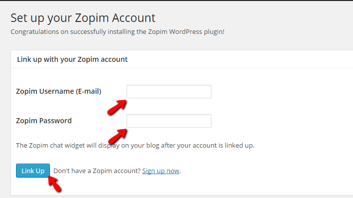 activating the zopim livechat plugin