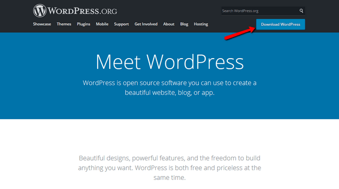 Access the WordPress organization website