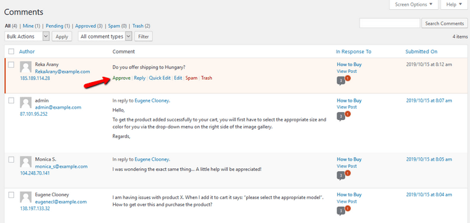comment-approval-in-wordpress-dashboard