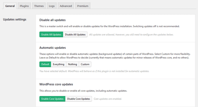 Configure the WordPress Update Process with a Plugin