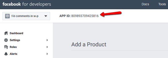 Copy the App ID From your Facebook App