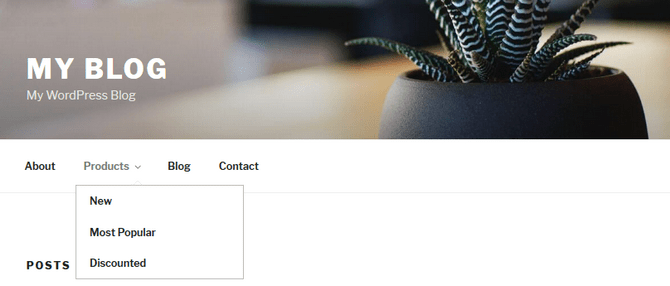 Display of Multi-Level Drop-Down Navigation Menu in WordPress
