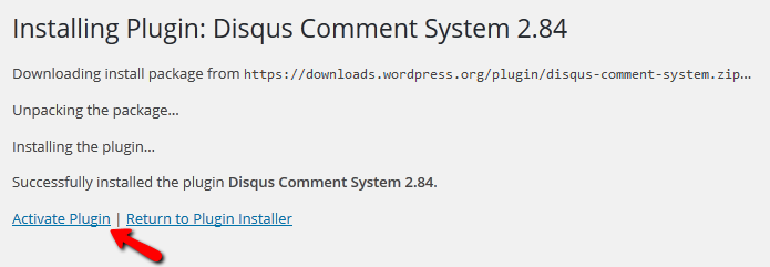 Activating the Disqus Plugin in WordPress