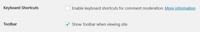 Enable Keyboard Shortcuts and Toolbar in WordPress Profile