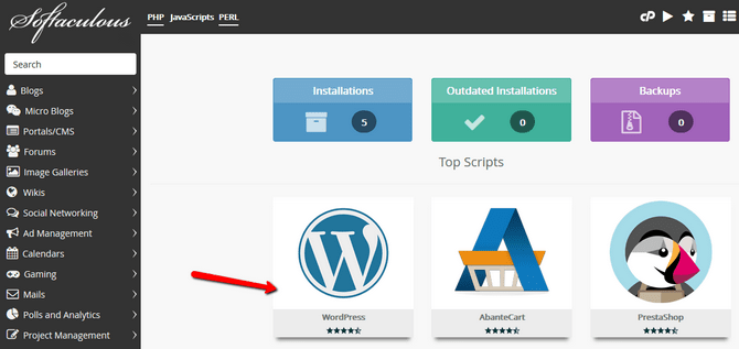 Install WordPress via Softaculous • How to Tutorial - FastComet
