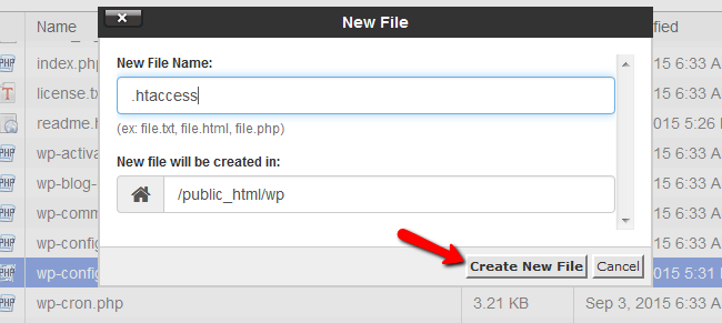 Name and Create the new file