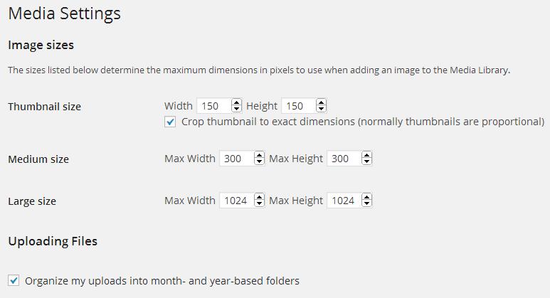 image size settings
