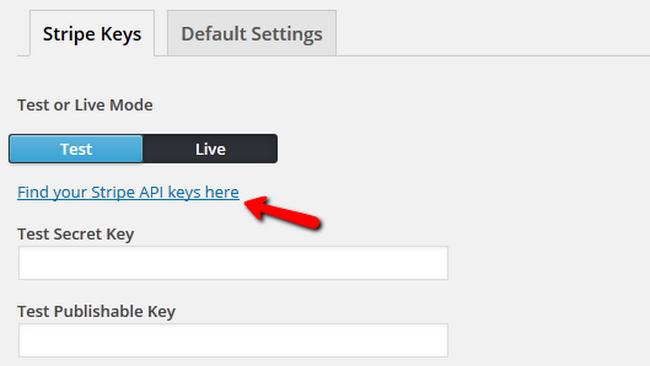 Generating Stripe API keys