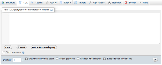 SQL Querry Feature in phpMyAdmin