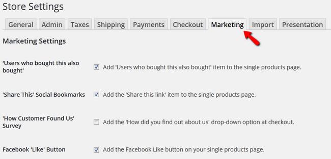 marketing page