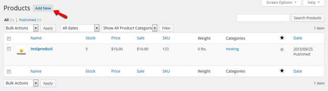 Adding a new Product in WP eCommerce
