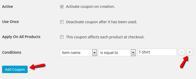 Additional Configuration options for the Discount Coupon