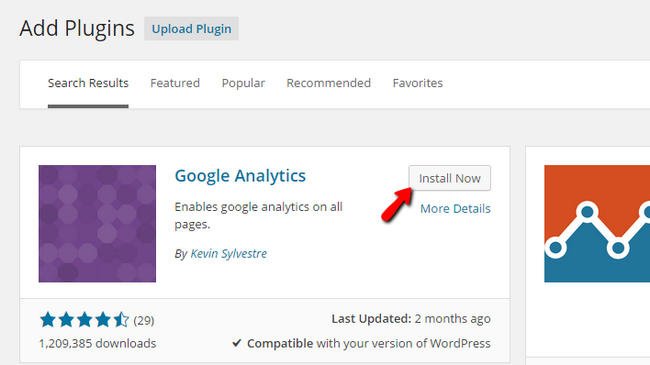 Finding and Installing the Google Analytics Plugin
