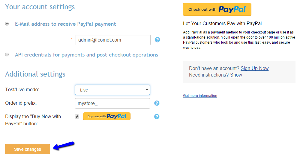 Configure PayPal in X-Cart