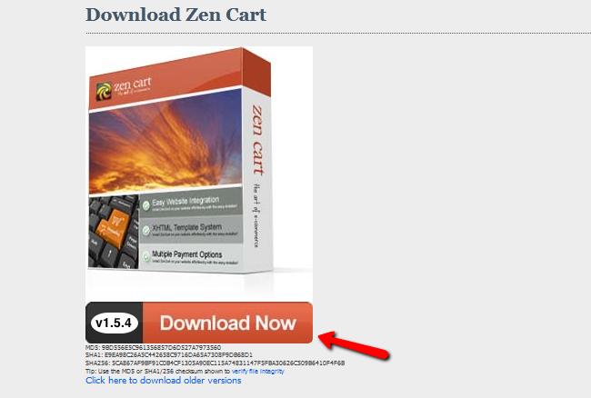 Downloading Zen Cart
