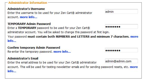 Creating an Admin Account in Zen Cart
