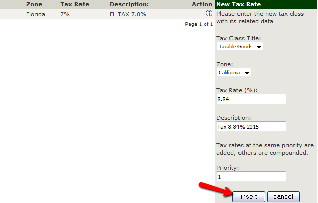 Configuring a Tax Rate in Zen Cart