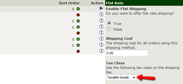 Configuring the Flar Rate shipping in Zen Cart